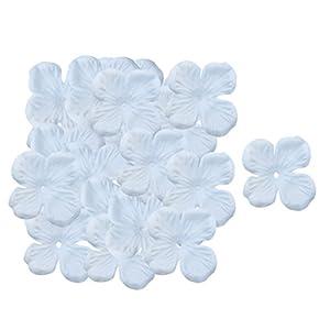 Homyl 500pcs Silk Artificial Hydrangea Flower Petals for DIY Craft Accessories Wedding Decor - Light blue, as described 81