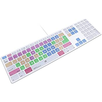 9dab45e8ff9 HRH for Apple iMac G6 MB110LL/B MB110LL/A A1243 Keyboard with Numeric Keypad  NumberPad Print: Adobe Premiere Pro CC Functional Shortcuts Hot Keys Design  ...