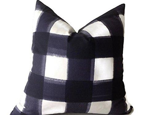 Caitlin Wilson Pillow Buffalo Check Pillow Cover, Navy Throw Pillows, High End Geometric Pillows, Home Decor, Housewares, Accent Pillow