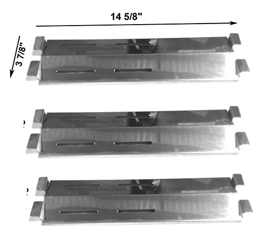 [Members Mark M3206ANG, M3206ALP, Grill Chef SS525-B, SS525-BNG, SS72B, Patio Range SK472B, CG41064, 9900 Stainless Steel Heat Shield(3PACK)] (Coastal 9900 Gas Grill)