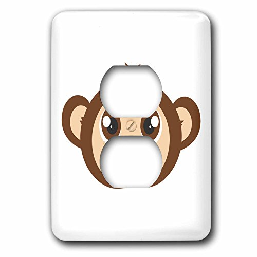 3d Rose 3dRose lsp_203413_6 Cute Baby Monkey Cartoon - 2 ...