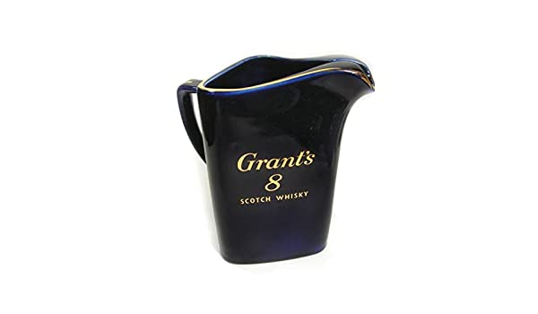 Amazon.com | Vintage Grants 8 Scotch Whisky Cobalt Blue Triangular Bar Pitcher By Wade Regicor Great Britain: Carafes & Pitchers