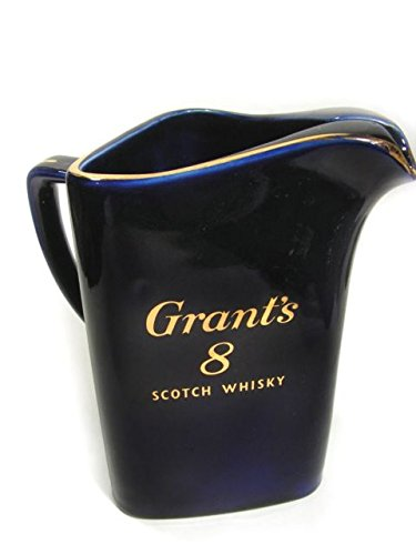 Vintage Grants 8 Scotch Whisky Cobalt Blue Triangular Bar Pitcher By Wade Regicor Great Britain