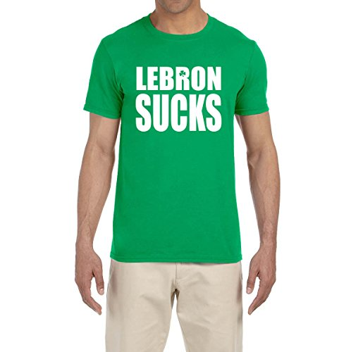 Deetz Shirts GREEN Boston Lebron Sucks T-Shirt YOUTH MEDIUM