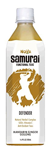 Noyu Teas Samurai Defender Mandarin Ginger Oolong Tea, 16.9-Ounce Bottles (Pack of 12) by NOYU