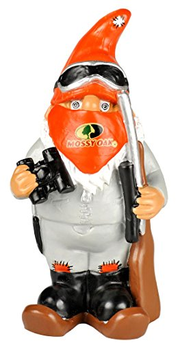 Mossy Oak Garden Gnome - Hunter w/Binoculars - Winter - Mossy Gnome