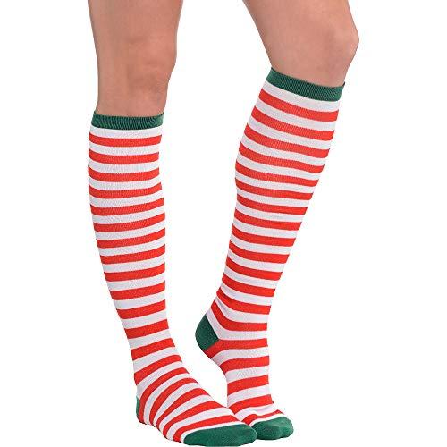 Stripe Fabric Knee Socks, 1 pair | Christmas -