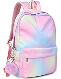 "Backpack for Women Girls School Book bags Lightweight Large 15.6"" Daypack Waterproof Nature Laptop Backpacks"