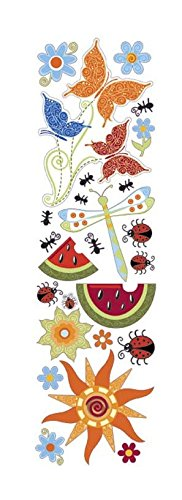 KAREN FOSTER Design Scrapbooking Clearly Stickers, Summer, 12 x 12