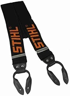 Stihl 0000 884 1579 - Bretelle per pantaloni da potatori dotati di bottoni, colore: Nero/Arancione