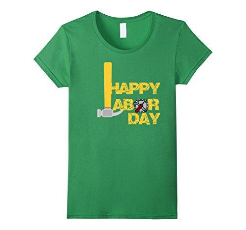 Womens International Labor Day 2017 T Shirt Happy Labor Day Hammer Medium Grass