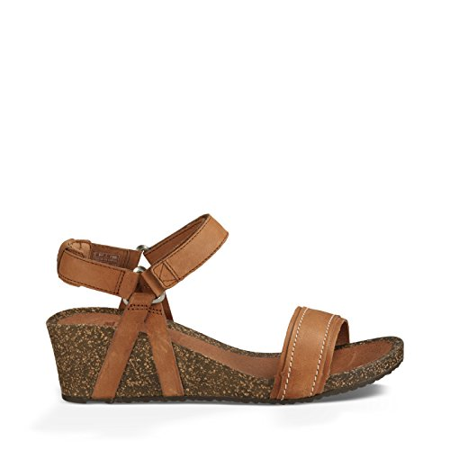 Teva Women's W Ysidro Stitch Wedge Sandal - Cognac - 6.5 ...