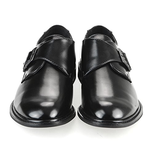 MM/ONE Mens Shoes Slipon Dress Shoes Oxford Laceup Shoes Gift Shoes Black Dark Brown White Yompt110-11black