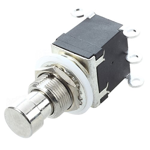 SODIAL(R) 6Pins DPDT Momentary Stomp Foot Switch for Guitar AC 250V/2A ()