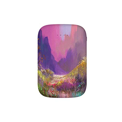 Oil Painting Style Colorful Summer Garden with Flowers Greenery Forest Art Portable Charger 10000mAh Power Bank External Battery Backup Pack Fast Charger for iPhone,Samsung Galaxy and More