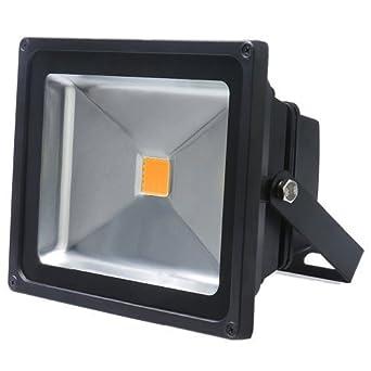 LED ECO Außenbeleuchtung Baustrahler Haus Hof Garten Fluter 50W 230V Kaltweiß