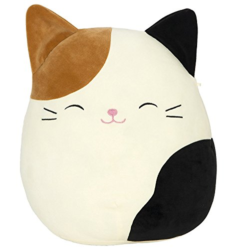 SQUISHMALLOW Cameron The Cat Pillow Stuffed Animal, Tricolor, 16'' by SQUISHMALLOW