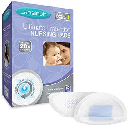 Lansinoh Ultimate Protection Disposable Nursing Pads, Pack of 50