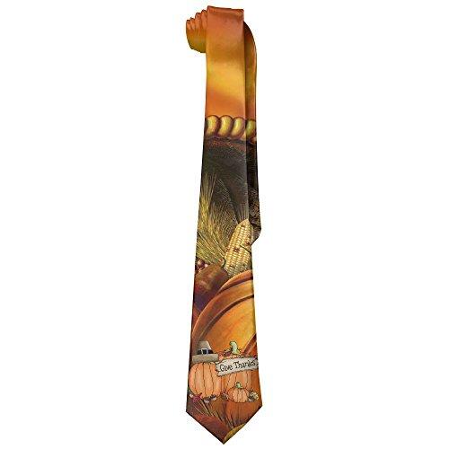 XINYE-tie Mens Thanksgiving Day Pumpkin Wide Novelty Long Necktie Tie