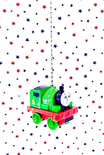 - Kids Toy Train Ceiling Fan Light Pull Chain Ornaments (Train - Green Percy)