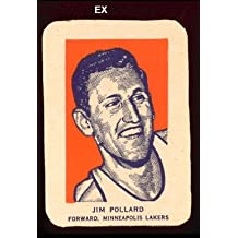 1952 wheaties regular (basketball) Card# 5 jim pollard por of the Minneapolis Lakers Ex Condition