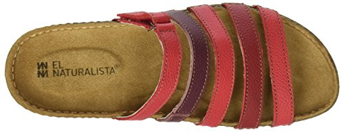 Toe Grain Red Naturalista El Open Sandals Mixed Torcal WoMen N327 Tibet Soft x0qFgf