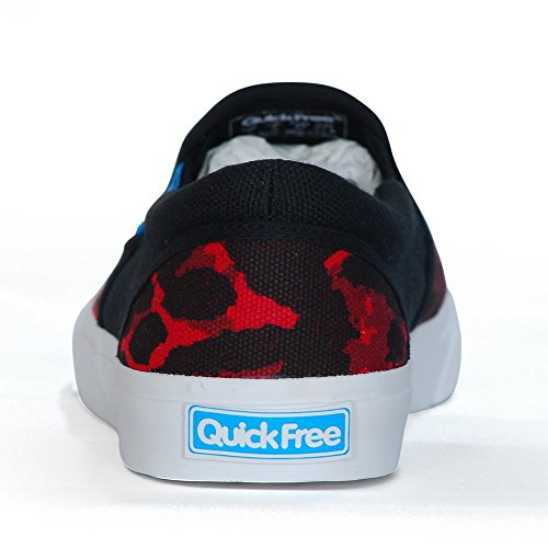 Red Quick on Canvas Black Womens Free Sneakers Lightlys Slip A8qBcA7w