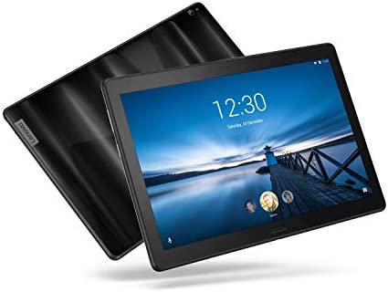 """Lenovo Smart Tab P10 10.1"""" Android Tablet, Alexa-Enabled Smart Device with Fingerprint Sensor and Smart Dock Featuring 4 Dolby Atmos Speakers - 64GB Storage with Alexa Enabled Charging Dock Included"""