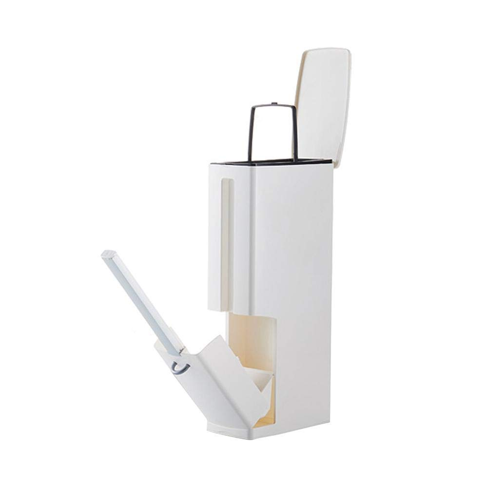 Fovolat   Trash Can for Bathroom - Toilet Brush and Holder for WC - Tissue Box Holder - 3 in 1Trash Can - Small Volume, More Functions