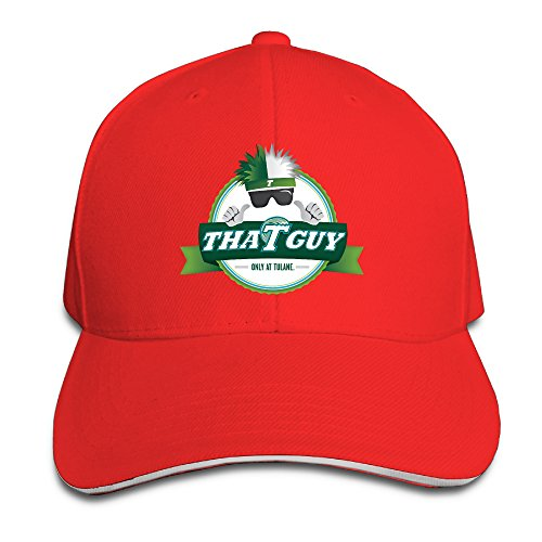 Sports Tulane University Green Wave Snapback Hats Red Sandwich Peaked Cap 69fc8fa7ac52