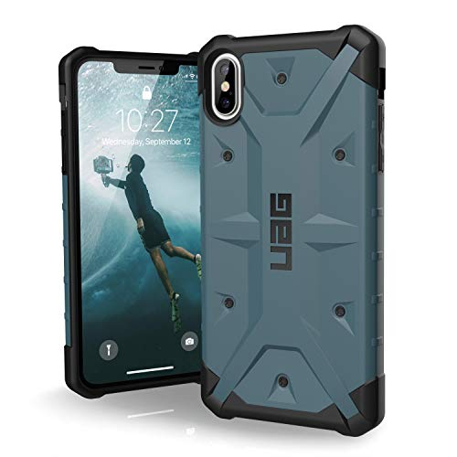 URBAN ARMOR GEAR UAG iPhone Xs Max [6.5-inch Screen] Pathfinder Feather-Light Rugged [Slate] Military Drop Tested iPhone Case