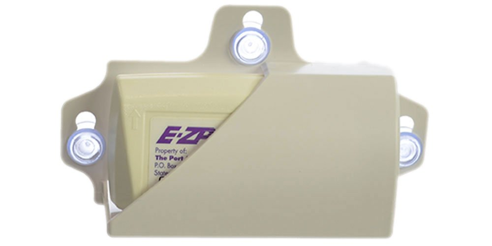 MINI EZ-Pass Clip Electronic Toll Tag Holder for the NEW Small Size E-ZPass / i-Zoom / i-Pass - WHITE Sababa Shopping 54-0108
