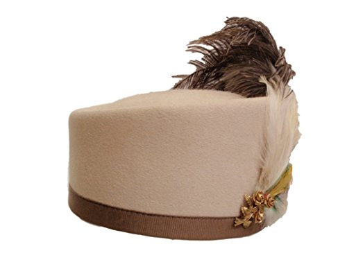D Bar J Hat Brand, Female, Tilt Pill Box, Size 6 3/4, Bone by D Bar J Hat Brand