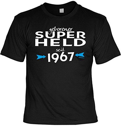 T-Shirt - Geborener Superheld Seit 1967 - lustiges Sprüche Shirt als Geschenk zum 50. Geburtstag