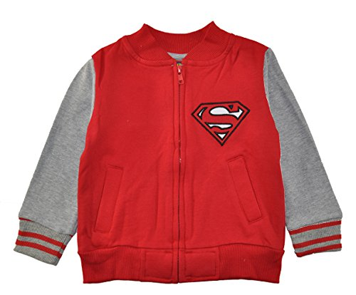 Batman vs Superman. Little Boys Character Print Fleece Jacket, Superman Red, 2T
