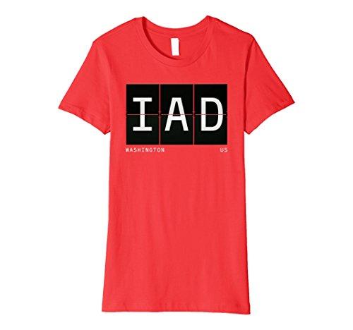 Womens IAD Washington Vintage Retro Travel Airport Code Gift Shirt Medium - Washington Airport Shops