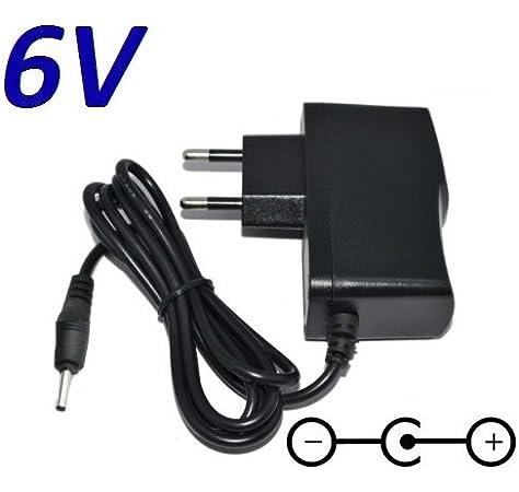 CARGADOR ESP /® Cargador Corriente 6V Compatible con Reemplazo Vigilabebes Motorola MBP18 Exclusivo para la Unidad de Padres Recambio Replacement