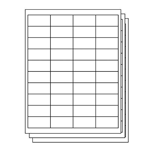 OfficeSmartLabels Rectangular 1 x 2 Address/Mailing Labels for Laser & Inkjet Printers, 1 x 2 Inch, 40 per sheet, White, 6000 Labels, 150 Sheets ()
