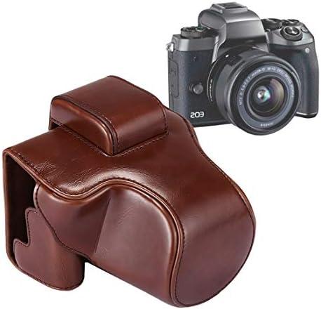 カメラと写真 Canon EOS M5用ストラップ付きフルボディカメラPUレザーケースバッグ カメラケース (Color : Black)