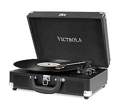 Victrola Suitcase Tocadiscos en maleta Vintage Bluetooth - UK Flag ...