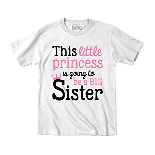 This Little Princess Going to Be Big Sister -Toddler Short Sleeve TEE-2T White