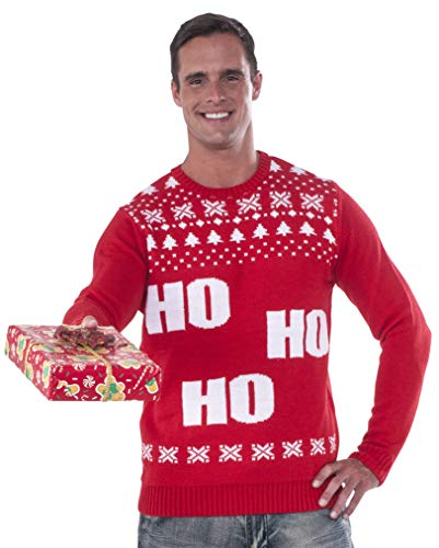 Rubie's Men's Ho Ho Ho Ugly Christmas Sweater,