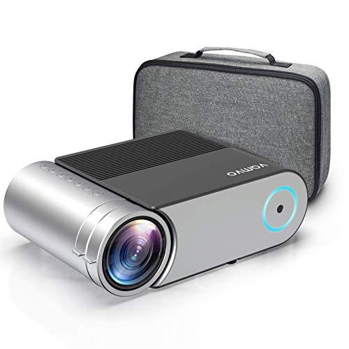 Vamvo Proyector Full HD 1080P, Mini Proyector L4200 con Dolby, Proyector Portátil 5500 Lúmenes, 50000 Horas Vida, Cine…