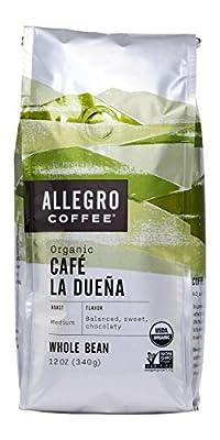 Allegro Coffee Organic Cafe La Duena Whole Bean Coffee, 12 oz by Allegro Coffee