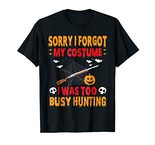 Halloween Hunting tshirt lazy costume for Deer Hunters
