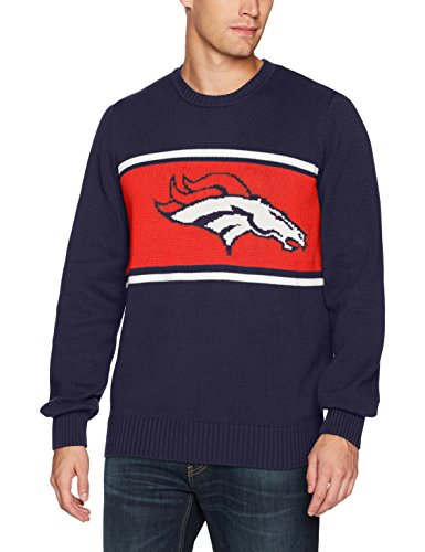 NFL Denver Broncos Men's Ots Pullover Sweater, Large, Light Navy ()