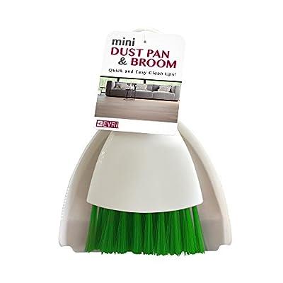 Evriholder MDPB06-AMZ Mini Dust Pan and Broom, Red/Green