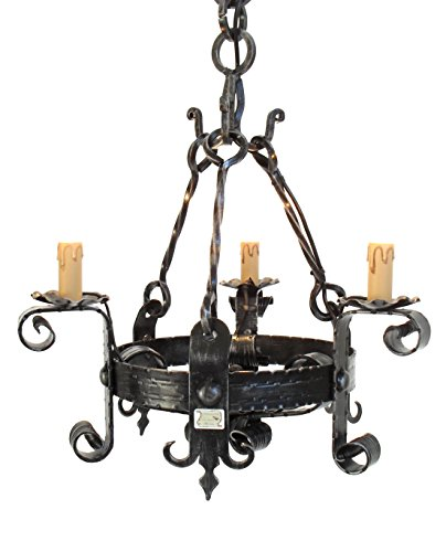 Gothic Style Chandelier (Cruccolini snc Handmade 3-Light Cruccolini Castle Chandelier)