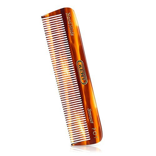 Kent FOT Handmade Sawcut 113mm Small Mens Fine Toothed Styling Pocket Comb by Kent