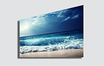 27610090dc printerland.it Quadro Moderno Panorama Mare - Quadri Moderni 50x70 cm  Stampa su Tela Arredamento